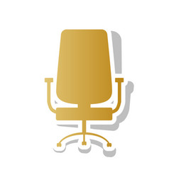 office chair sign golden gradient icon vector image