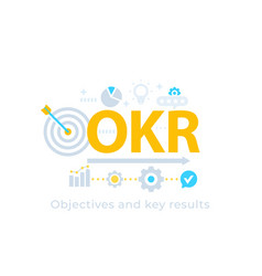 okr objectives and key results vector image