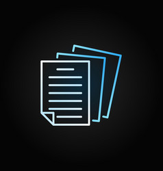 Paper or document creative colored outline vector