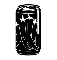 Pepper tin can icon simple style vector