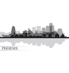 Phoenix city skyline silhouette background vector