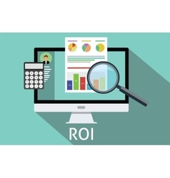 Roi return on investment vector