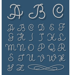 rope font Nautical alphabet ropes hand drawn vector image