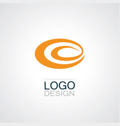 round swirl abstract logo vector image