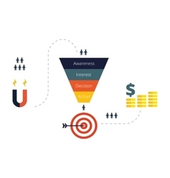 Sales Funnel Infographics Flat vector image vector image