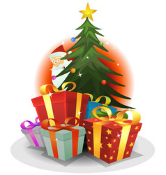 Santa claus delivery vector