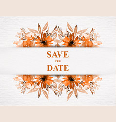 Save date for personal holiday wedding vector