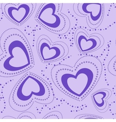 seamless pattern with blue hearts vector image