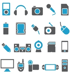 Set icons electronics and gadgets vector image