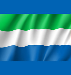 sierra leone realistic flag vector image