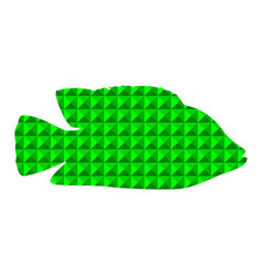 silhouette of fish green abstraction vector image
