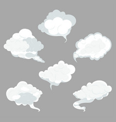 sky clouds set vector image