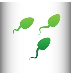 Sperms sign Green gradient icon vector image