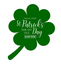 St patricks day special offer sale text badge vector