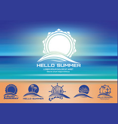 summer logo design set vector image