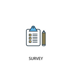 survey concept 2 colored line icon simple yellow vector image