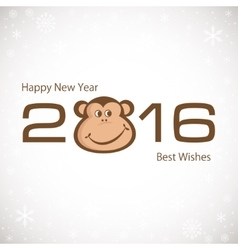 Symbol Of New Year Monkey 2016 New year card vector image
