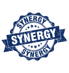 Synergy stamp sign seal vector