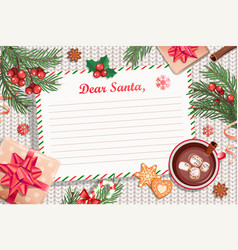 template christmas letter to santa claus vector image