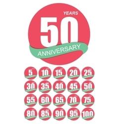 Template Logo Anniversary Set vector