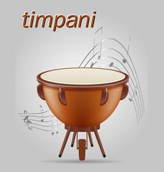 Timpani drum musical instruments stock vector