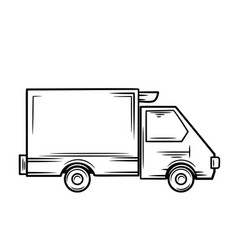 truck icon outline vector image