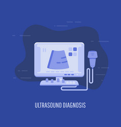 ultrasound diagnosis ultrasound machine and vector image