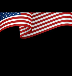 Usa insignia on black vector