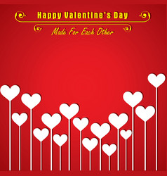 valentine card with cute heart vector image