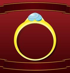 Valentine golden ring postcard vector image