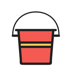 Water bucket vector