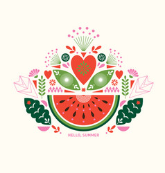 watermelon stylized vector image