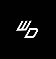 wd logo monogram with up to down style modern vector image