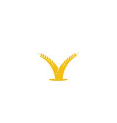 Wheat grain agriculture logo designs inspiration vector