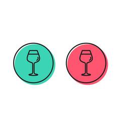 Wine glass line icon bordeaux glass sign vector