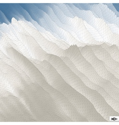 Blue Sky With Clouds Mosaic vector image vector image