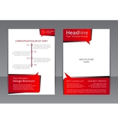 design of the red-black and white flyer vector image