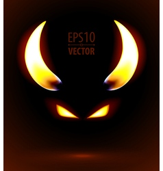 Fire silhouette of the satan vector image