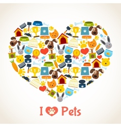 Pets care concept vector image
