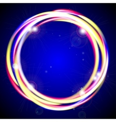 Sparkling ring vector