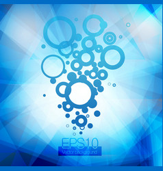 blue water and bubbles going up vector image vector image