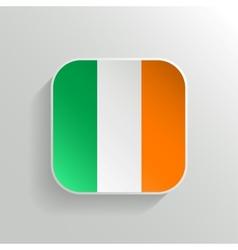 Button - Ireland Flag Icon vector image vector image