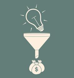 Convert the idea into money concept profit vector