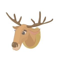 Deer head icon cartoon style vector image vector image