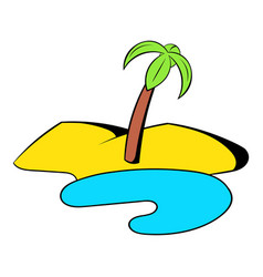 oasis in the desert icon cartoon vector image vector image