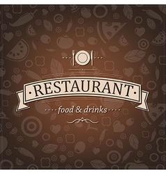 Retro brown restaurant menu vector