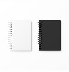white and black realistic notebooks vector image vector image