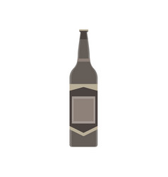 beer bottle glass isolated background drink vector image vector image