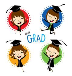 congratulation new graduate cute cartoon vector image