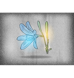flower on the grey texture vector image
